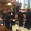 Friars Gathered for Transitus-Brooklyn